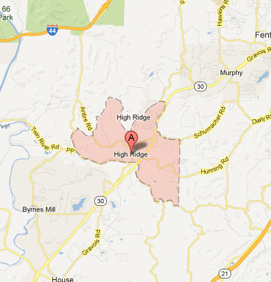 Appliance Repairs In High Ridge Mo Map Service Coverage Areas